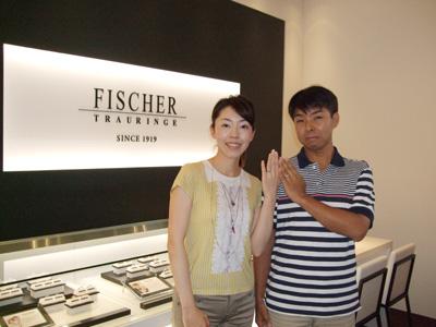FISCHERのリングをご成約いただいた方が受け取りに来て下さいました。