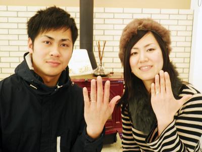 二人共気に入った指輪が購入出来て嬉しいです。