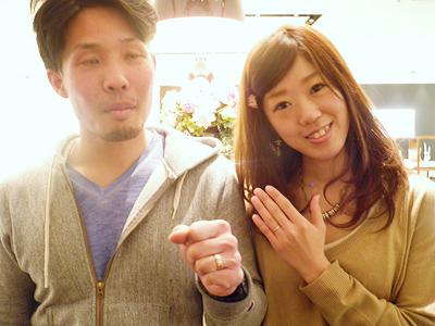 2人の希望通りのカジュアルな指輪でよかったです。