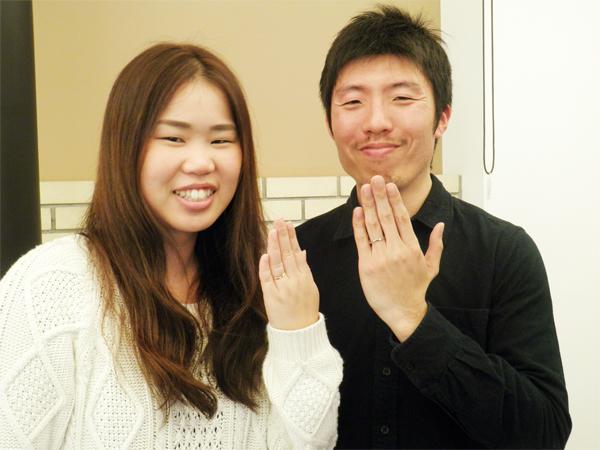 夫婦共にぴったりの良い指輪がみつかりました。