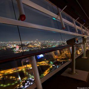大阪gardenのサプライズプロポーズ 大阪コスモスクエアから夜景を一望できるコスモタワー