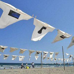 大阪でサプライズプロポーズ 砂浜美術館