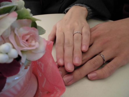 指輪もキレイで嬉しいです