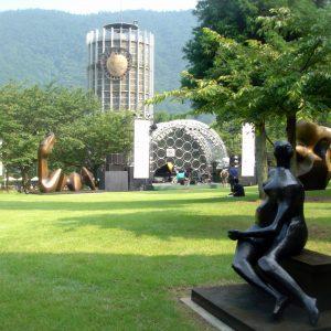 大阪でサプライズプロポーズ 箱根彫刻の森美術館