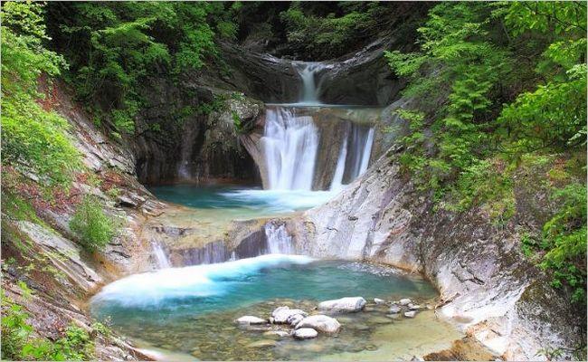大阪のサプライズプロポーズ 七ツ釜五段の滝