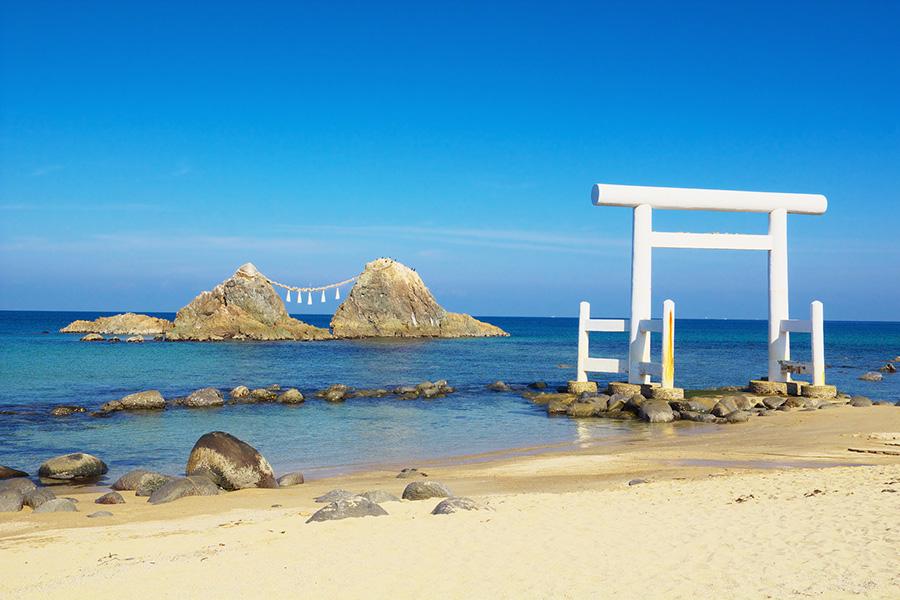大阪のサプライズプロポーズ 糸島の夫婦岩