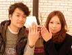 すごくいい二人の指輪が出来ました。ありがとうございました。