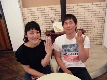 マカナの結婚指輪でガーデン大阪岸和田市のお客様