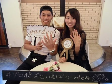 マリアージュエントの結婚指輪でガーデン大阪岸和田市のお客様1