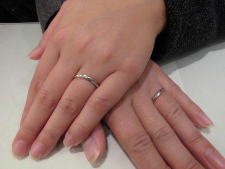 マリアージュエントの結婚指輪でガーデン大阪岸和田市のお客様2