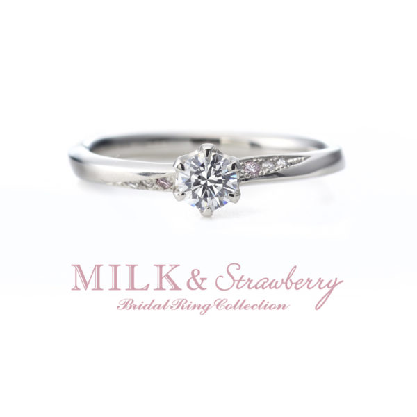 ミルク&ストロベリーのアンシャンテの婚約指輪大阪岸和田