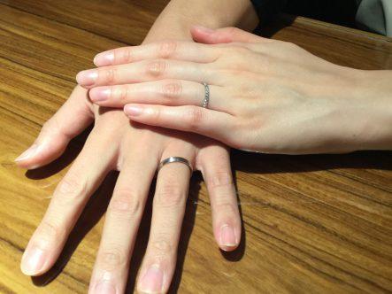 ミルク&ストロベリーの結婚指輪を買ったお客様2