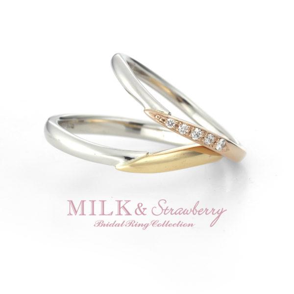 ミルク&ストロベリーのエテルナの結婚指輪で大阪岸和田市
