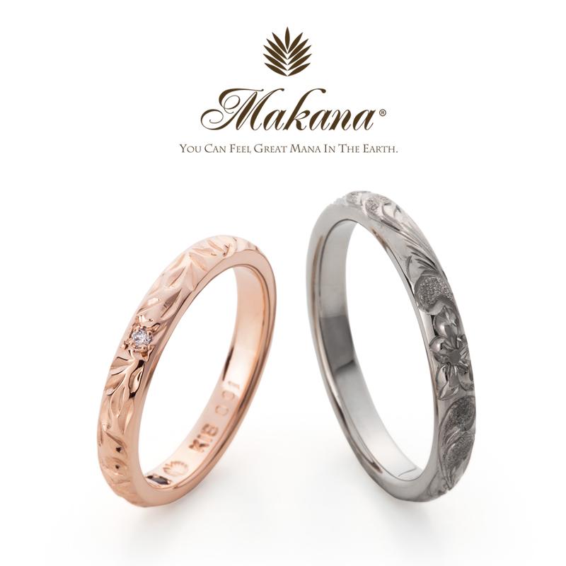 マカナのバレルタイプの2.8ミリのプリンセスカットの結婚指輪で大阪岸和田市の正規取扱店