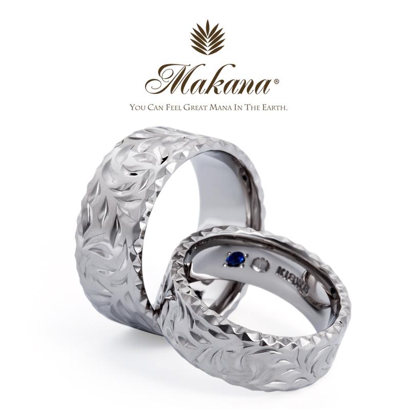 マカナの9ミリのフラットタイプのマカナカットの結婚指輪で大阪岸和田市の正規取扱店