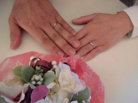 ガーデン岸和田のエトルの結婚指輪のお客様1