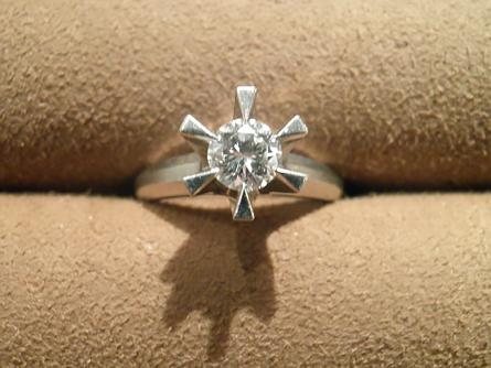 母の婚約指輪を普段使いのリングにリフォーム