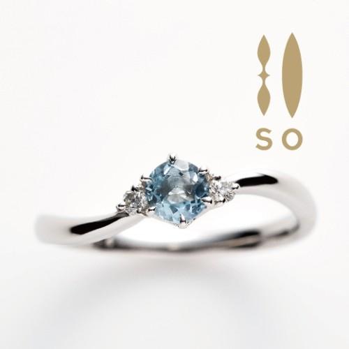 ソウのアクアマリンの婚約指輪で大阪岸和田市の正規取扱店