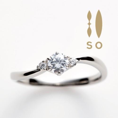 ソウのホワイトサファイヤの婚約指輪で大阪岸和田市の正規取扱店