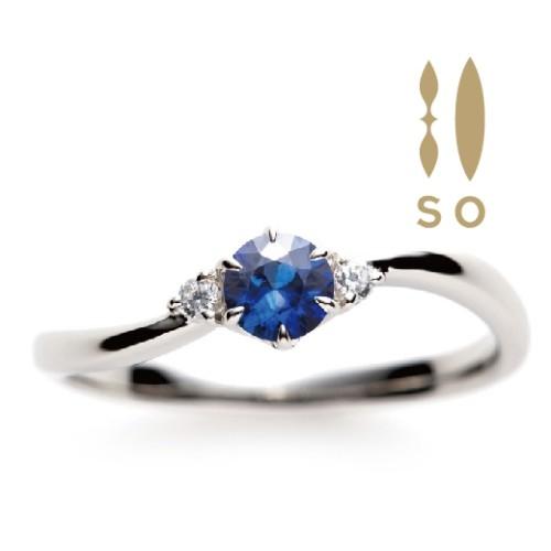 ソウのブルーサファイヤの婚約指輪で大阪岸和田市の正規取扱店