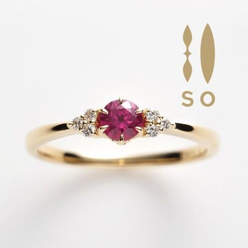 ソウのルビーの婚約指輪で大阪岸和田市の正規取扱店