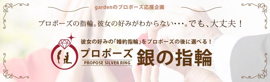 彼女の好みの「婚約指輪」をプロポーズの後に選べるリング銀の指輪プラン