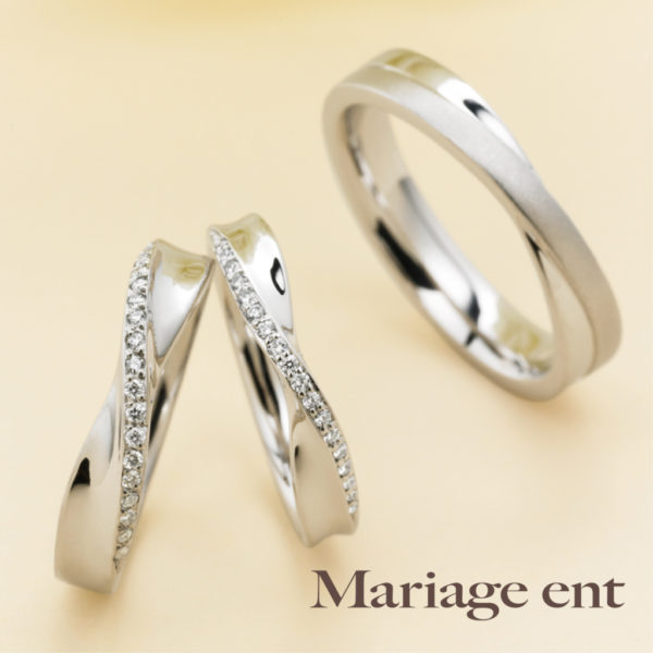 大阪婚約指輪キラキラ可愛いピンクダイヤ重ね着け結婚指輪岸和田