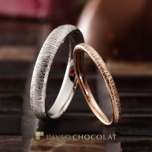 おしゃれ結婚指輪パヴェオショコラゴールドリング大阪結婚指輪