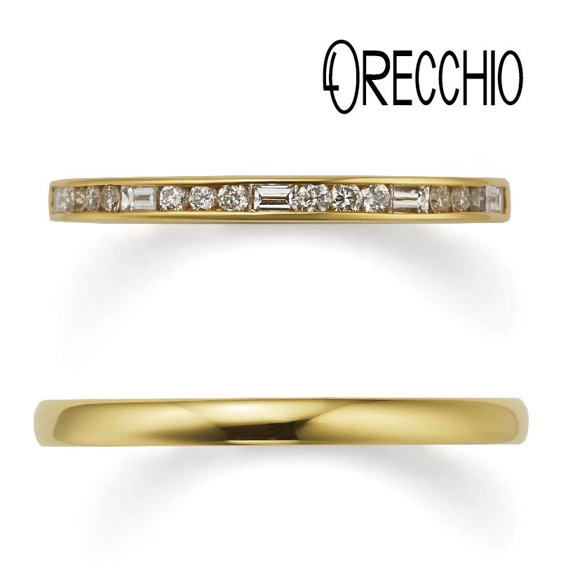 ORECCHIO結婚指輪・アンティーク調