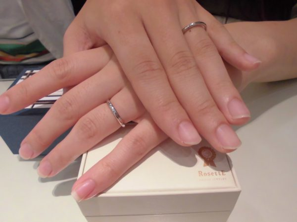 気に入ったデザインの指輪が見つかった