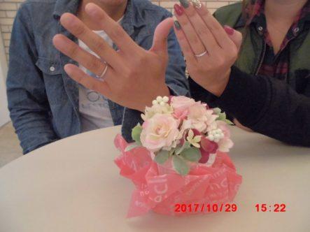 キレイな指輪が完成していて感動しました
