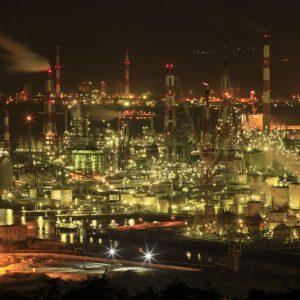 大阪gardenのサプライズプロポーズ 水島コンビナート工場夜景