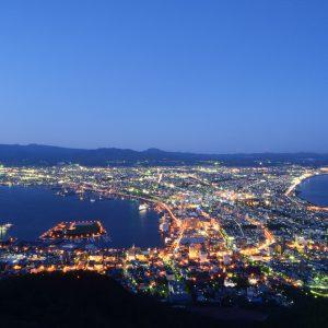大阪gardenのサプライズプロポーズ 函館山ロープウェイ