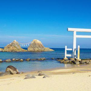 大阪gardenのサプライズプロポーズ 糸島の夫婦岩