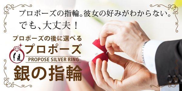 後から選べる婚約指輪銀の指輪プラン
