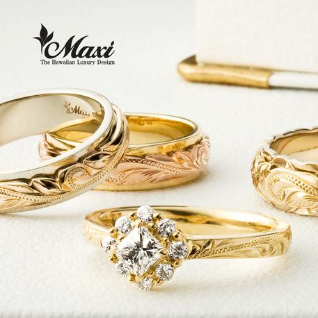 大阪のハワイアンジュエリー結婚指輪・婚約指輪Maxi人気