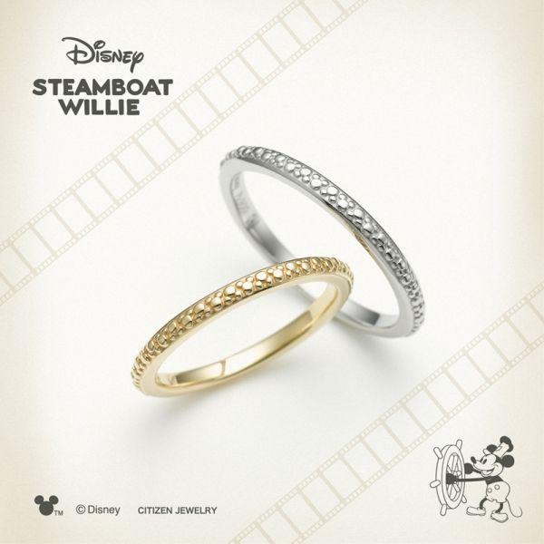 ディズニー結婚指輪はスチームボートウィリーミッキーのジョリーラフ