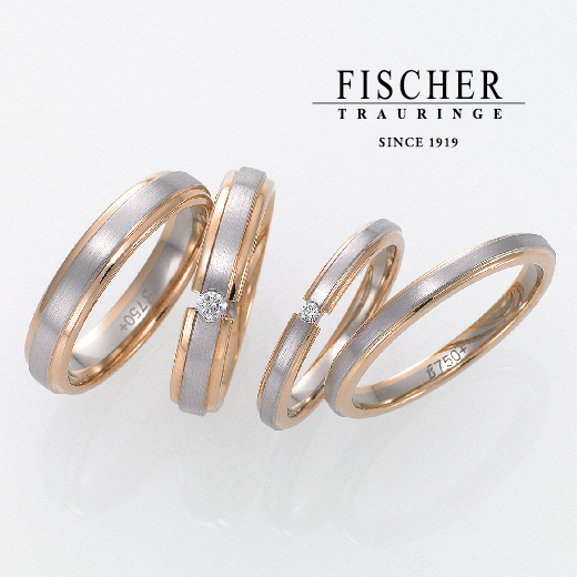 アンティーク調の結婚指輪で鍛造製法ブランドのFISCHER