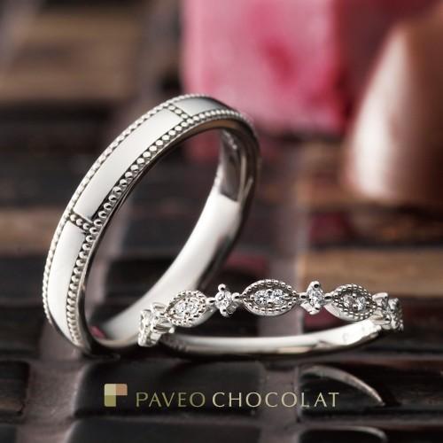 アンティーク調の結婚指輪ブランドPAVEO CHOCOLATのジョワ