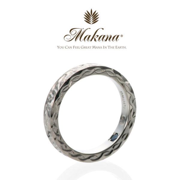大阪でハワイアンジュエリーの結婚指輪マカナのプラチナ