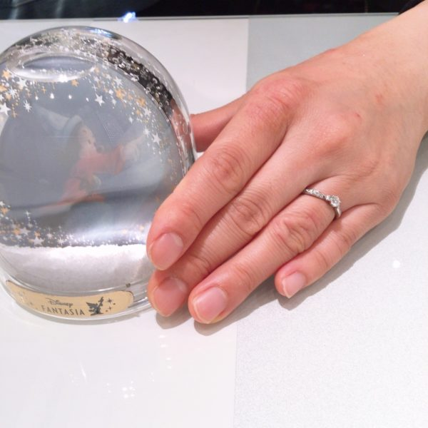 大阪府和泉市のDisneyFANTASIA婚約指輪