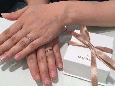 大阪府八尾市 MACHERIEの結婚指輪