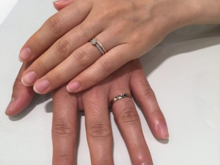 大阪府堺市中区 FISCHERとGRACE KAMAの結婚指輪