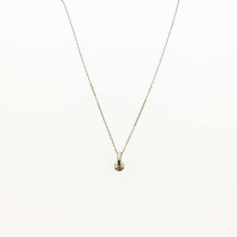 K10WG(ホワイトゴールド)ダイヤモンドネックレス1点留め0.20ct