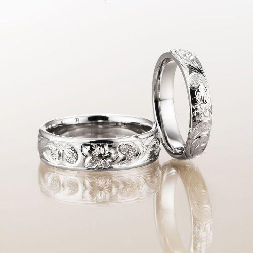 マカナMakanaの結婚指輪でバレルタイプのPBのPt