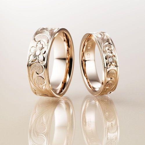 マカナMakanaの結婚指輪でPBのフラットタイプの幅広のPG