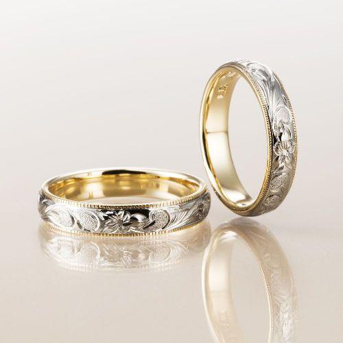 Makanaの結婚指輪でレイヤータイプの内WG外YG