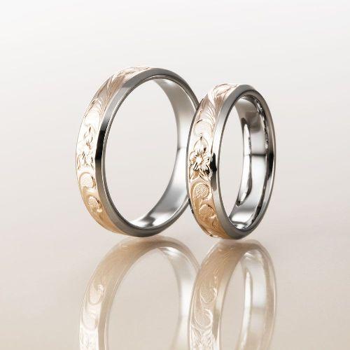 マカナMakanaの結婚指輪でレイヤータイプの中ゴールド外WG