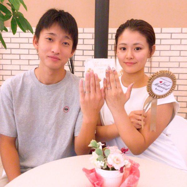 【岸和田市】ディズニーシンデレラ ロゼットの結婚指輪