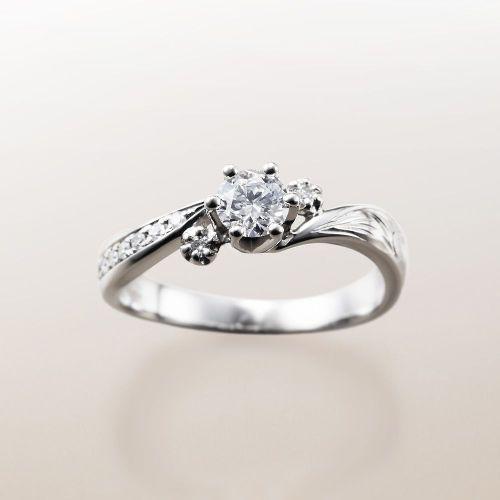 マカナMakanaの婚約指輪でME-2のPt